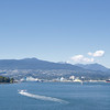 Panorama of North Vancouver and Stanley Park - View from Vancouver Convention Center, British Columbia, Canada