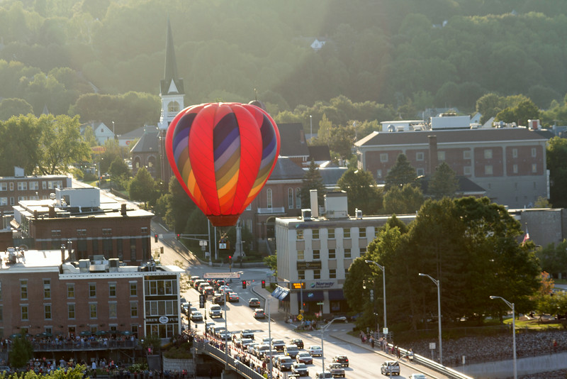 Great Falls Balloon Festival and Court Street, Auburn, Maine