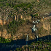 Twin Falls in Kakadu National Park, seen from a helicopter.