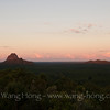 Glass House Mountains National Park, 70km north of Brisbane. Spectacular view of craggy volcanic peaks that tower above the surrounding landscape.