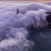 Aeriel Golden Gate Bridge Sunset - 1467x2200 Web