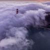 Aeriel Golden Gate Bridge Sunset - 853x1280 Web