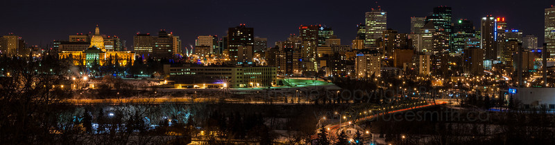 Edmonton winter skyline panorama