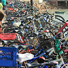 Bicycles Parked, Yung Shue Wan Ferry Jetty, Lamma Island, Hong Kong