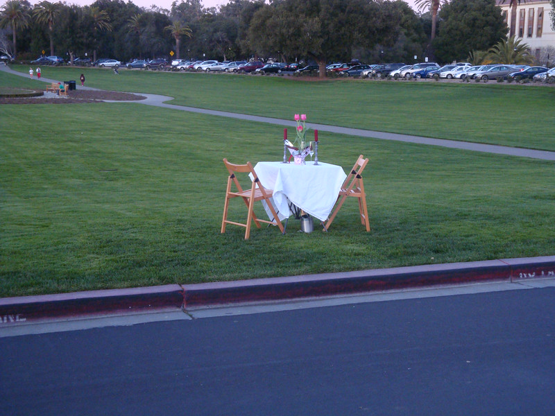 Romantic dinner at the Stanford Oval