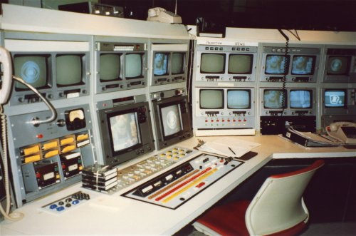 KTHV master control in 1991.