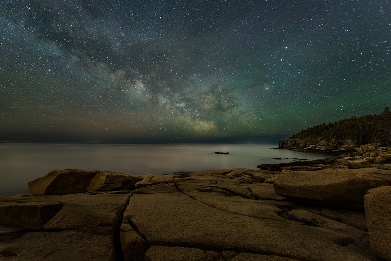 The Milky Way photographed in Acadia National Park - Maine, US.