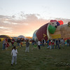 Location: 2006 Albuquerue Balloon Fiesta, New Mexico at dawn.  The balloon on the left is Noah's Ark and seems to be a common favorite.