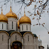 The Assumption Cathedral in the Moscow Kremlin. 克里姆林宫内圣母升天大教堂。