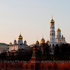 The Moscow Kremlin. The tallest tower is Ivan the Great Bell Tower. 莫斯科克里姆林宫。最高的建筑是伊凡大帝钟楼。