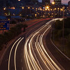 Light trails on the Eastern Boulevard highway, Cape Town