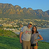 My favorite picture ... Col and I at Camps Bay ... with the 12 Apostles mountain range in the background !