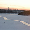 Sun sets over Stockholm skaters