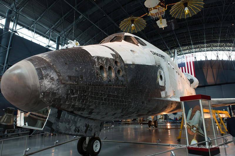 Space shuttle Discovery in the James S. McDonnell Space Hangar at Udvar-Hazy - April 2013