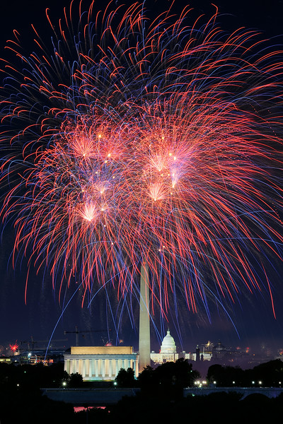 Washington DC Independence Day Fireworks 2014