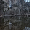 Yosemite Falls Reflection<br /> from Swinging Bridge
