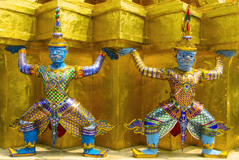 Guardian Demons at Wat Pra Kaew, Bangkok, Thailand