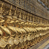 Demons lined up at Wat Pra Kaew, Bangkok, Thailand