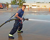 Makes carrying, holding and operating a fire hose a lot easier for one person.