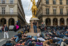 Paris, France, French Gay And Anti-AIDS N.G.O, Act Up-Paris, Protest against Extreme Right Political Party, the National Front, at Jeanne d'Arc Statue, in Palais Royale, District