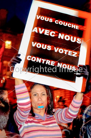 Paris,France,  Prostitute Demonstrating at Senate Bldg.