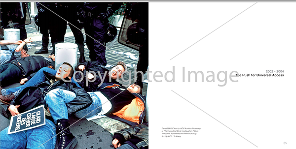 Act Up Photo, IAS Brochure (Alamy)