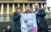 Paris, France, French LGTB N.G.O. Group, All Out, Presenting Signed Petition for Equality, incuding Gay Marriage, to Deputies at the National Assembly Busilding 30 jan 2013