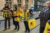 "Paris, France, French Anti-Nuclear Poser N.G.O. ""Sorton de la Nucleaire"" Human Chain Protesting, Fukishima Accident Anniversary , 5/3/2013"