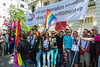Paris, France, French LGBT Groups Protesting Homophobic Laws in Russai, at Russian Embassy, 8/9/13