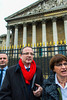 Paris, France, French LGTB N.G.O. Group, All Out, Presenting Signed Petition for Equality, incuding Gay Marriage, to Deputies at the National Assembly Building ,  30 jan 2013