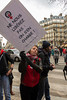 Paris, France,  European Activists Group,  Act Up Paris,  Protesting at Moulin Rouge, Against Anti-Prostitution Meeting by Feminist Groups