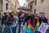 Paris, France, Pro Gay Marriage Demonstration Near Senate Building, by Oui Oui Oui Collective LGBT Groups,  4/4/2013