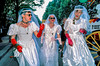 PARIS, France  - Male Gay Men Dressed as Brides on Wedding Day at Lesbian, Gay, Bi, & Trans  Pride March,