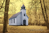 Palmer Chapel Methodist Church, Cataloochee Valley, Smokey Mountains National Park, Tennessee - Infra Red