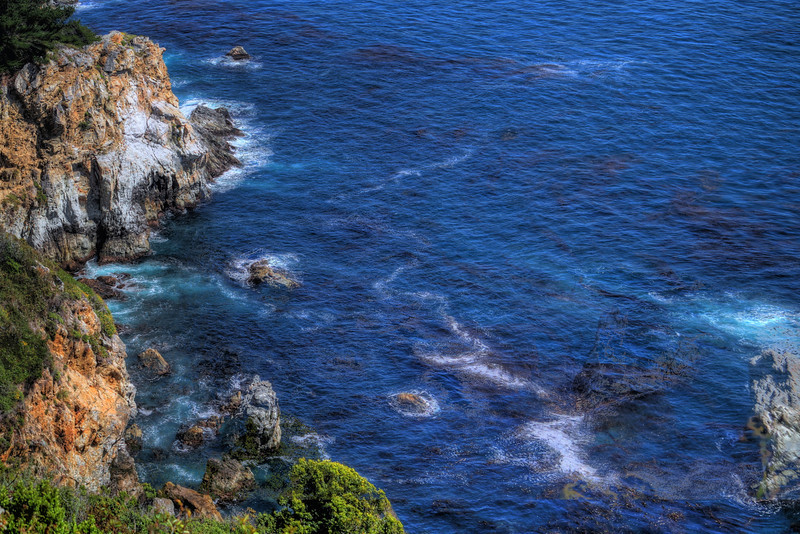 Ocean Currents at Big Sur, California