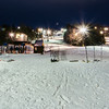 night skiing at skiing resort
