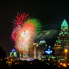 4th of july firework over charlotte skyline