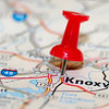 knoxville city pin on the map