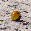 beach and beach ball on the sand.