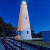 The Ocracoke Lighthouse on Ocracoke Island on the North Carolina coast at night