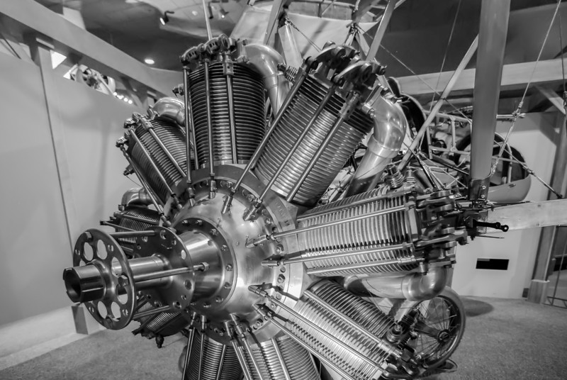 Radial engine of old airplane