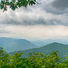 ridges of theSmokey Mountains extending across the valley on the BLue Ridge Parkway near Cherokee, North Carolina.