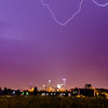 lightning and thunderstorm over city of charlotte north carolina