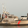 Hatteras, NC, USA - August 8, 2014 : u.s. coast guard boats at cape hatteras uoter banks