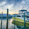 View of Sportfishing boats at Marina