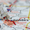 goldsboro city pin on the map