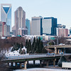 charlotte nc skyline covered in snow