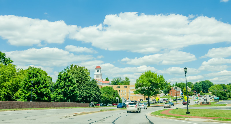driving on streets  in Maryville, Tennessee.