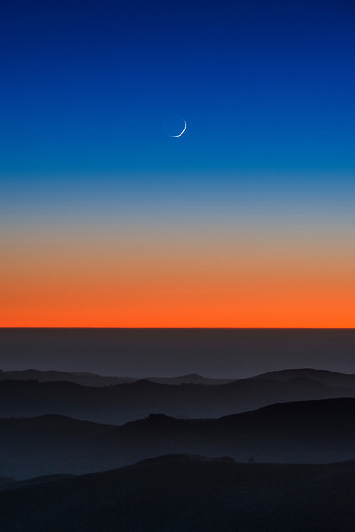 waxing crescent | la honda, california