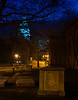 This is from St Anne's looking down School Street.  The Capital dome is lit up above the trees.